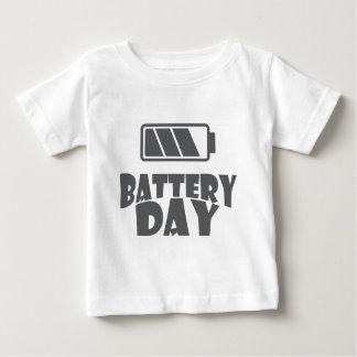 18th February - Battery Day - Appreciation Day Baby T-Shirt