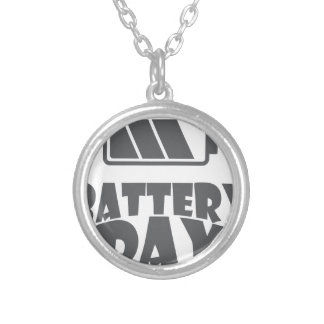 18th February - Battery Day - Appreciation Day Silver Plated Necklace