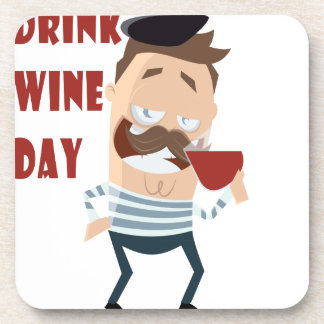 18th February - Drink Wine Day - Appreciation Day Coaster