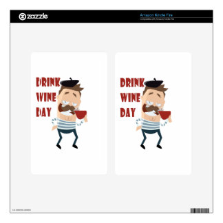 18th February - Drink Wine Day - Appreciation Day Decals For Kindle Fire