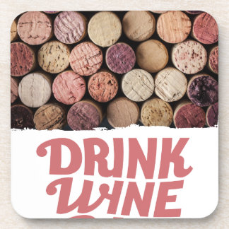 18th February - Drink Wine Day Drink Coaster