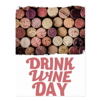 18th February - Drink Wine Day Postcard