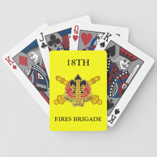 18TH FIRES BRIGADE PLAYING CARDS