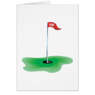 18th Hole Greeting Card