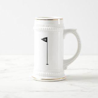 18th Hole Golf Flag Coffee Mugs