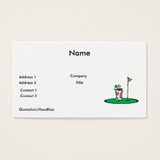 18th hole golf graphic business card at Zazzle