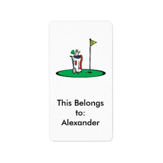 18th hole golf graphic label