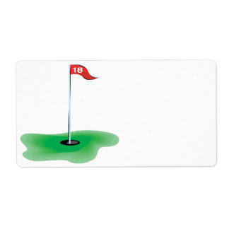 18th Hole Shipping Label