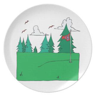 18th Hole Melamine Plate