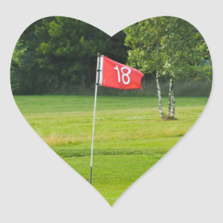 18th Hole of The Golf Course Heart Sticker
