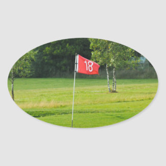 18th Hole of The Golf Course Oval Sticker