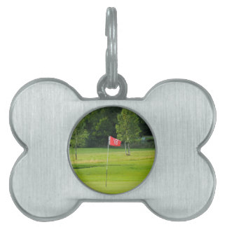 18th Hole of The Golf Course Pet Tag