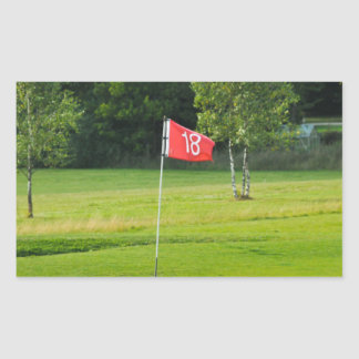 18th Hole of The Golf Course Rectangular Sticker