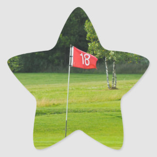 18th Hole of The Golf Course Star Sticker