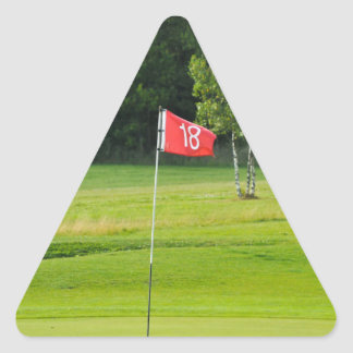 18th Hole of The Golf Course Triangle Sticker