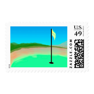 18th Hole Postage Stamp