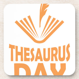18th January - Thesaurus Day Coaster