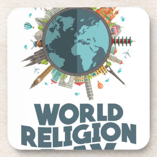 18th January - World Religion Day Beverage Coaster