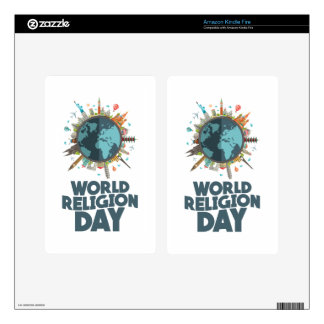 18th January - World Religion Day Skin For Kindle Fire