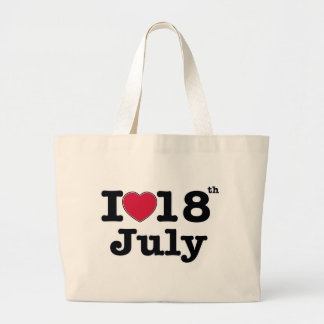 18th july my day birthday large tote bag