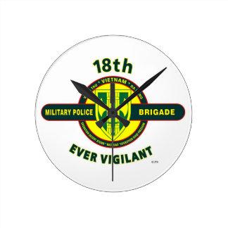 """18TH MILITARY POLICE BRIGADE """"EVER VIGILANT"""" CLOCKS"""