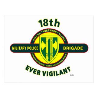 "18TH MILITARY POLICE BRIGADE ""EVER VIGILANT"" POSTCARD"