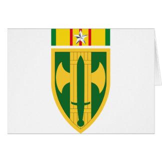 18th MP Brigade Vietnam - Silver Star Card