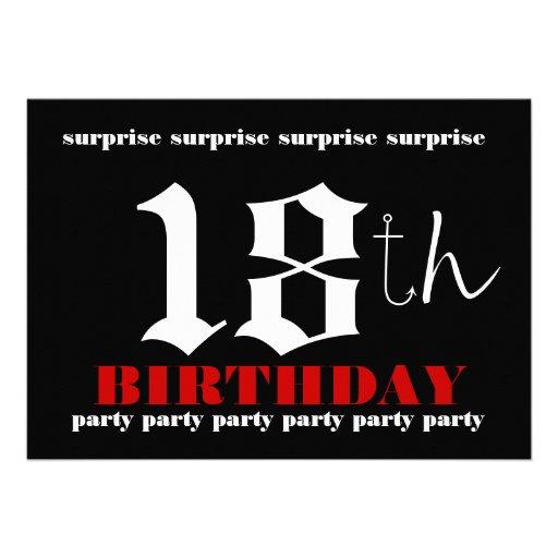 18th Birthday Invitation Templates