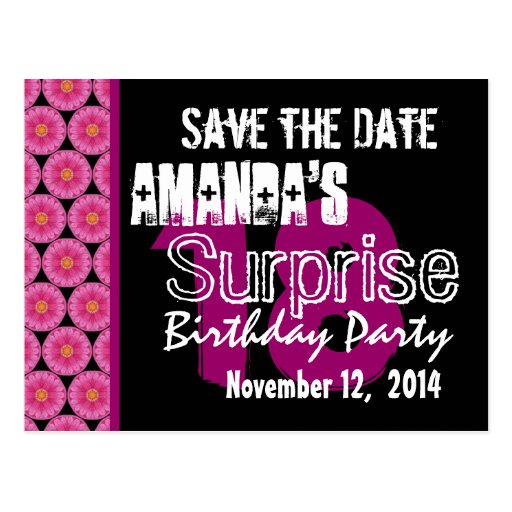 18th Surprise Birthday Party Pink Pattern Template