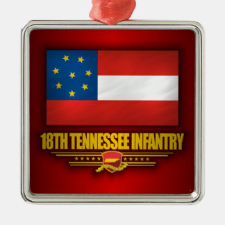 18th Tennessee Infantry Metal Ornament