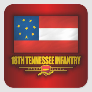 18th Tennessee Infantry Square Sticker