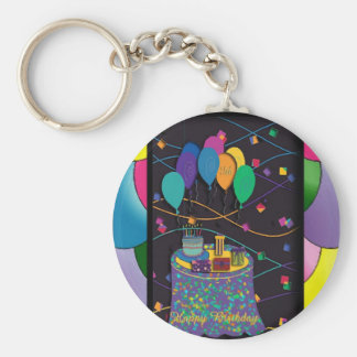 18thsurprisepartyyinvitationballoons copy key chain