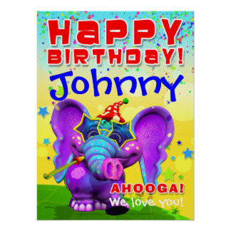"18x24"" GiggleBellies Peanut Birthday Star Poster"