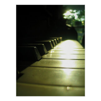18x24 Piano in Sunlight Poster