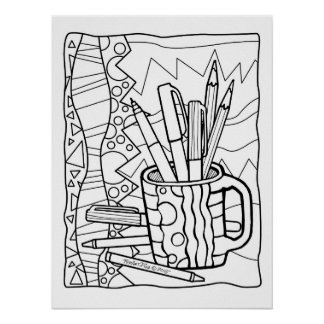 18x24 POSTER You COLOR - A CUP FULL OF COLORING