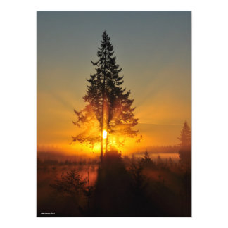 18X24 Sunrise in the Great Northwest Photo Print