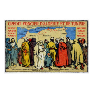 1900 africano del norte Credit Union Posters