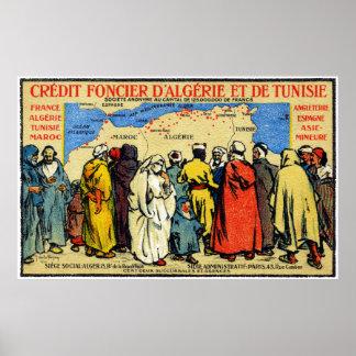 1900 africano del norte Credit Union Póster