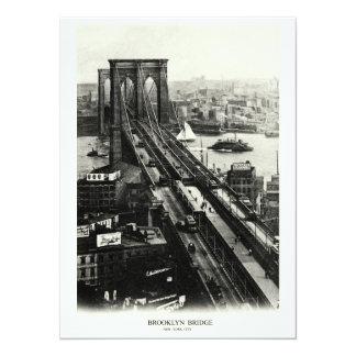 """1900 Brooklyn Bridge 5.5"""" X 7.5"""" Invitation Card"""