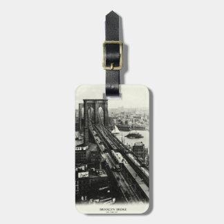 1900 Brooklyn Bridge Travel Bag Tag