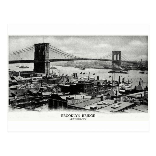 1900 Brooklyn Bridge Panorama Postcard