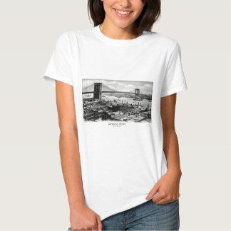 1900 Brooklyn Bridge Panorama T-Shirt