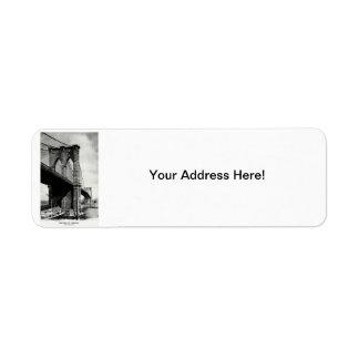 1900 Brooklyn Bridge Return Address Label