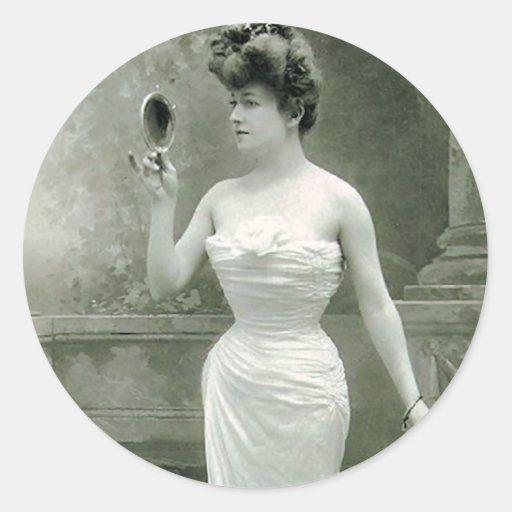 1900 de moda pegatina redonda