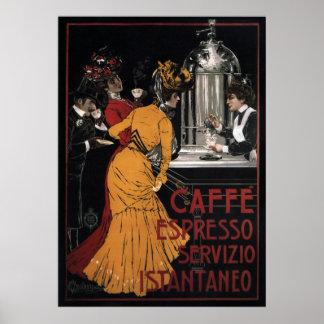 ~ 1900 de Servizio Istantaneo del ~ del café expre Posters