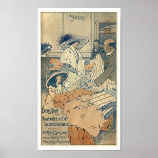 1900 Fashion shop clothes store France Paris Poster