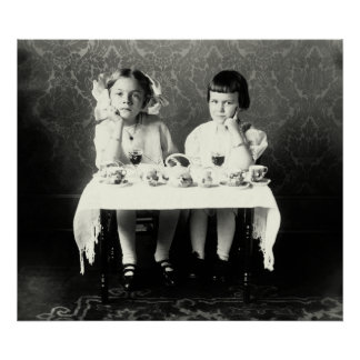 1900 Girlfriends Tea Party Poster