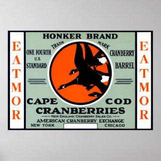 1900 Honker Brand Cranberries Posters