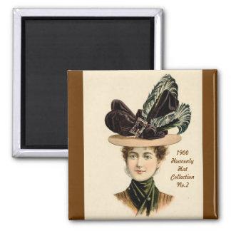 1900 imán de la colección No.2 del gorra de la mod