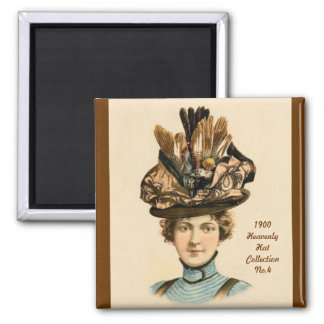 1900 imán de la colección No.4 del gorra de la mod